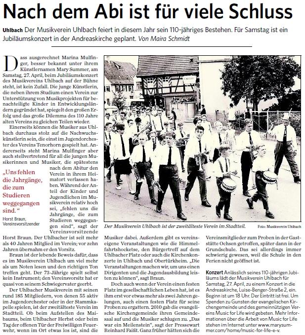 Artikel aus Stuttgarter Zeitung vom 26.04.13