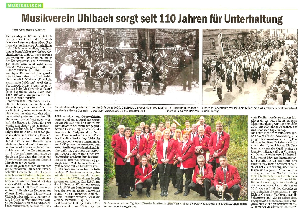 Artikel aus Untertürkheimer Zeitung 16.05.13