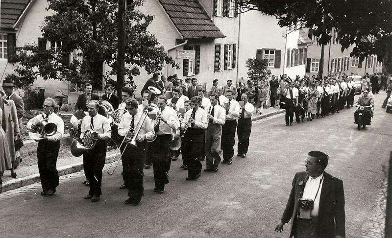 Umzug bei Kirchweih 1953