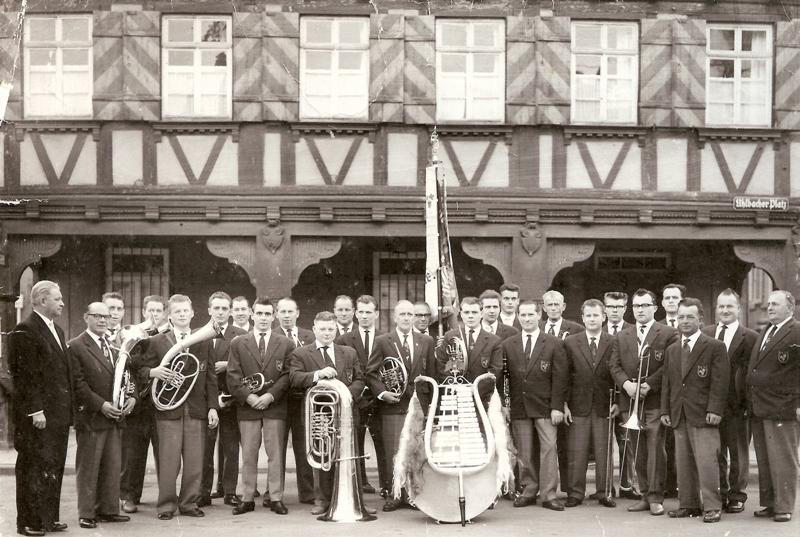 60-jähriges Jubiläum 1963 - Stammkapelle mit Dirigent Nolte