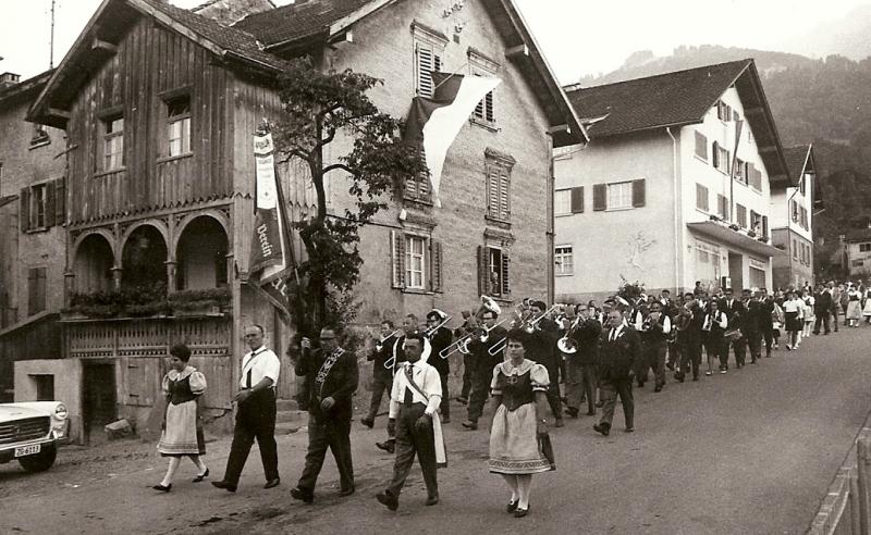 Festzug in Wangs 1964