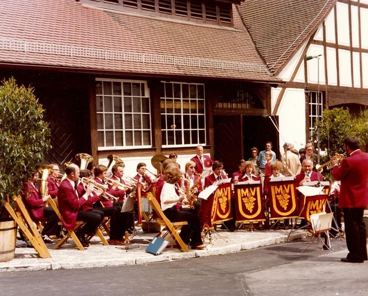 Eröffnung Weinbaumuseum mit Dirigent Böhle 1979