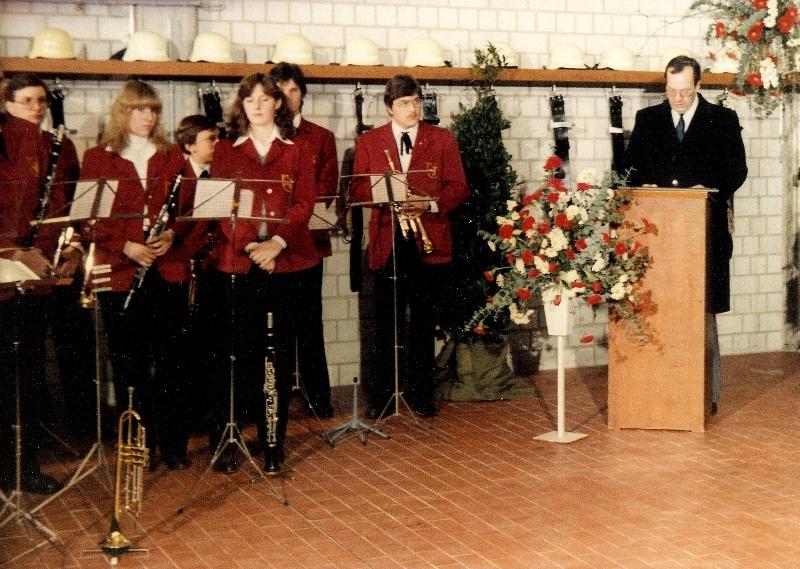 Einweihung Feuerwehrhaus Uhlbach 1982